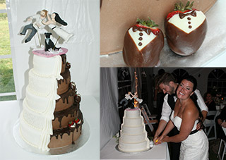 Two in one Wedding Cake
